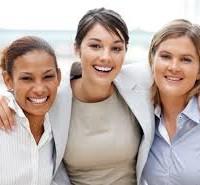 3 women, caucasian, ethnic