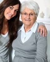 2 women, older,younger, they look caring