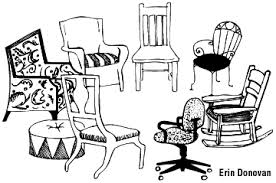 Counseling, b,w chairs, different, in circle